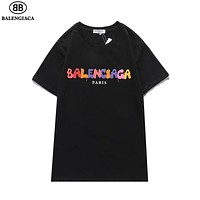 Balenciaga new camouflage letter LOGO printing short sleeve men's and women's T-shirt