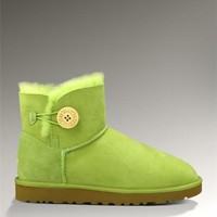 UGG Bailey Button Mini 3352 Boots Green Vitality