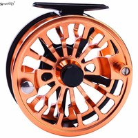 Sougayilang Fly Fishing Reel Left/Right Hand Coil Die Casting Aluminium Alloy Spool Fly Reel Saltwater Fishing Tackle 5/6 7/8