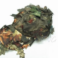 Unique Camo Leaf Cap Deciduous Leaves Hat Outdoor Hunting Fishing Airsoft Wargame Hat