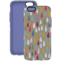 SPECK 73774-C094 iPhone(R) 6/6s CandyShell Inked(R) Case (Rainbow Drop Pattern/Beaming Orchid Purple)