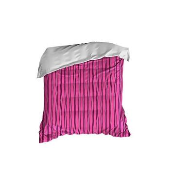 Hot Pink and Black Stripes Crib Comforter