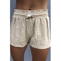 Pool Side Shorts- Khaki