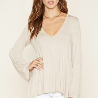 V-Neck Bell-Sleeve Top