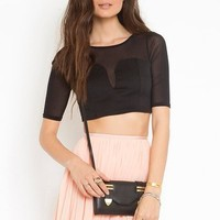Gia Crop Top - Black in  What's New at Nasty Gal