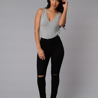 Kathleen Bodysuit - Heather Grey