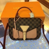 LV Louis Vuitton Damier Ebene CANVAS CROSSBODY HANDBAG INCLINED SHOULDER BAG