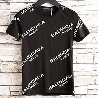 BALENCIAGA Trending Women Men Letter Print Short Sleeve T-Shirt Top