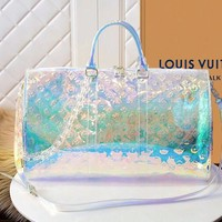 LV Louis Vuitton Reflective Jelly Laser Portable Messenger Transparent Bag 1#