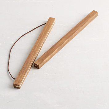 Wooden Print Dowel Hanger   Urban Outfitters