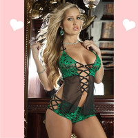 Top Selling Halter Strap Nightwear for Ladies Sexy Lingerie for Ladies Backless Sleepwear Dress with Thong One Size Hot! 2737 (Size: M) = 1932580356