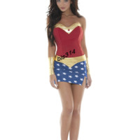 Sexy Superman Corset Costumes lzq, Red blue gold S M, very cheap sexy lingerie, cheap sexy costume, cheap halloween costume - Halloween Costumes HotSaleWear.Com