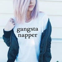 Gangsta Napper Shirt in White for Women