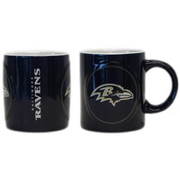 Baltimore Ravens NFL Coffee Mug - 14oz Sculpted Warm Up (Single Mug)