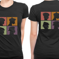 Gorillaz Poster 2 Sided Womens T Shirt