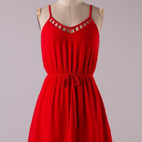 Red Belmar Dress