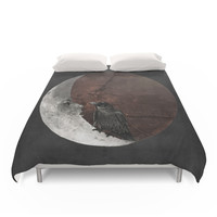 Society6 The Crow And Its Moon. Duvet Cover