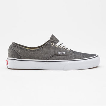 Vans Classic Chambray Authentic Mens Shoes Black  In Sizes