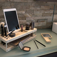 Wood Makeup Organizer Makeup Stand Makeup Station Gift for Her Girlfriend Gift Birthday Present Gift for Mom Jewelry Stand Jewelry Box