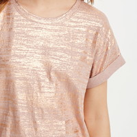 Metallic-Brushed Tee
