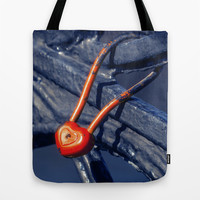 Lock on a Handrail Tote Bag by Cinema4design