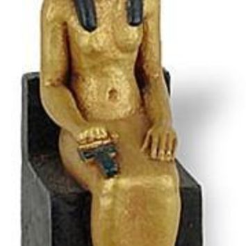Isis Holding Ankh Miniature Figurine PAIR for Fairy Garden or Egyptian Game Playing