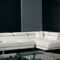 Classy Bonded Leather Sectional Sofa
