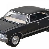 1967 Chevrolet Impala Sedan 4 Doors Black Supernatural 2005 1:64 Diecast