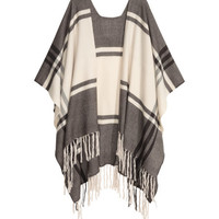 Jacquard-weave Poncho - from H&M