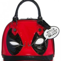 """""""Deadpool"""" Mini Dome Bag by Loungefly x Marvel (Red/Black)"""