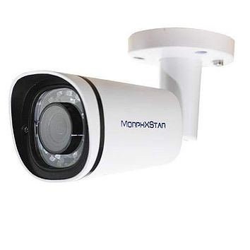 MorphXStar Security 8 Megapixel 4K Motorized AutoFocus 2.8-8mm; 3X Optical Zoom Lens Outdoor/Indoor Onvif H.265 8MP Bullet PoE IP Camera Built-in Microphone, 120FT Night Vision - EstesM4K White