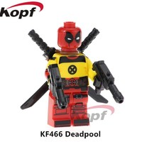 Building Blocks Single Sale X-men Deadpool 2 Movie Gwenpool Hulkpool Domino Cable Peter Super Heroes Toys for children KF466