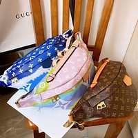 Hipgirls Louis Vuitton LV New colorblock printed men and women diagonal crossbody bag