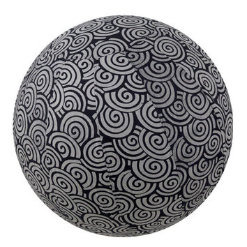Yoga Ball Cover Size 65cm Design Black Swirl - Global Groove (Y)