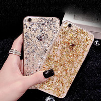 [BIGSALE]Sparkling sand mobile phone case for iphone 5 5s SE 6 6s 6 plus 6s plus + Nice gift box 072301