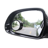 Driver 2 Side Wide Angle Round Convex Car Vehicle Mirror Blind Spot Auto RearView for all car 2pcs per set