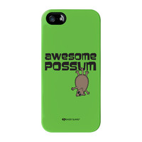 Sassy - Awesome Possum #10074 Full Wrap Premium Tough Case for iPhone 5 / 5s by Sassy Slang