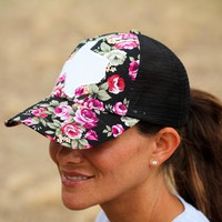 Floral Texas Glitter Hat
