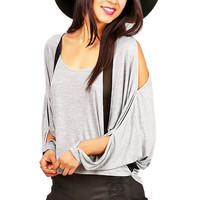 Sheertone Batwing Top