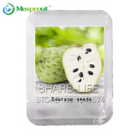 10 pcs SOURSOP Graviola Guanabana Annona muricata SEEDS Tropical Fruit NO-GMO good for health Professional Packing