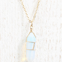Iridescent Wire Wrapped Necklace