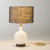 Bond Opal Glass Table Lamp & Fabric Shade   Schoolhouse Electric & Supply Co.