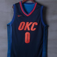 Oklahoma City Thunder #0 Russell Westbrook Nike Statement Edition NBA Jerseys