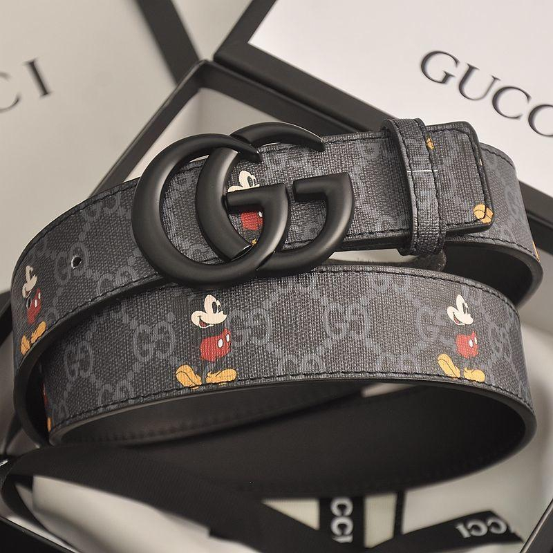 Image of GG men's and women's double G letter smooth buckle belt