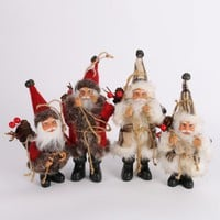 Christmas Santa Claus Doll Toy Christmas Tree Ornaments Decoration Exquisite For Home Xmas Happy New Year Gift 171122