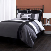 Special Edition by Lush Decor Isa 8 Piece Comforter Set in Grey & Black