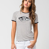 VANS Authentic Striped Womens Ringer Tee | Graphic Tees