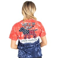 Bone In the USA - America - Dog - Tie Dye - SS - Adult T-Shirt
