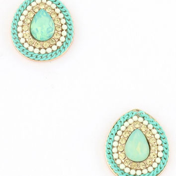 New Sparkle Studs in Mint