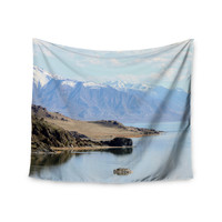 """Sylvia Coomes """"Mountain Reflection """" Brown Nature Wall Tapestry"""